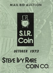 S.I.R. Coin Mail Bid Auction: October 1973