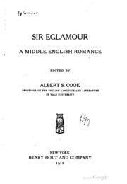 sir eglamour a middle english romance eglamour free download