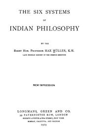 six systems of hindu philosophy
