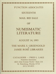 Sixteen Mail Bid Sale of Numismatic Literature