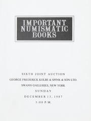 Important Numismatic Books: Sixth Joint Auction