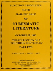 Sixth  Mail Bid Sale of Numismatic Literature