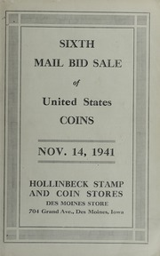 Sixth Mail Bid Sale of United States Coins