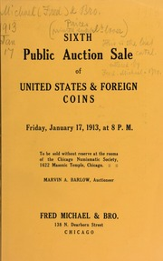 Sixth public auction sale of United States & foreign coins. [01/17/1913]