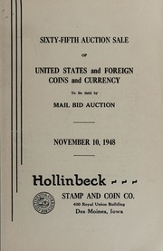 Sixty-Fifth Auction Sale of United States and Foreign Coins and Currency
