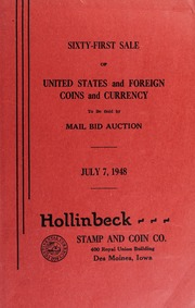 Sixty-First Sale of United States and Foreign Coins and Currency