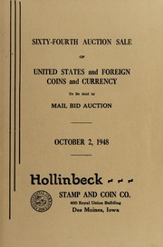 Sixty-Fourth Auction Sale of United States and Foreign Coins and Currency