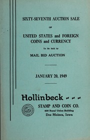 Sixty-Seventh Auction Sale of United States and Foreign Coins and Currency