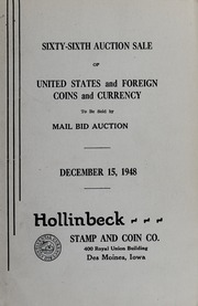 Sixty-Sixth Auction Sale of United States and Foreign Coins and Currency