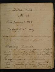 Sketch-book No. 12--Jan. 1-Aug. 5, 1839, No. 12