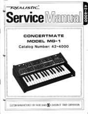 MOOG MG1 Concertmate schematics service manual : Free Download