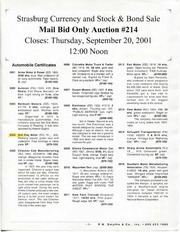 The Strasburg Currency & Stock & Bond Auction (pg. 66)