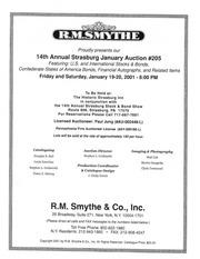 14th Annual Strasburg Stock & Bond Auction #205 (pg. 79)