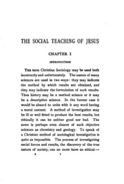 the social teaching of jesus an essay in christian sociology  the social teaching of jesus an essay in christian sociology