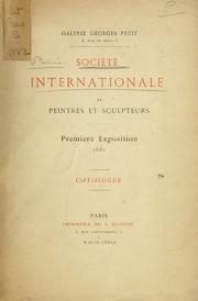 Societe internationale de peintres et sculpteurs : première exposition 1882 : catalogue