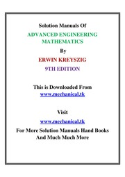 advanced engineering mathematics solution manual