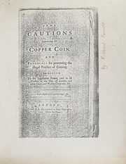 Some Cautions Concerning the Copper Coin and Proposals for Preventing the Illegal Practice of Coining