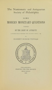Some Monetary Questions Viewed by the Light of Antiquity