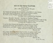 Song for the Temple Volunteers (1877)