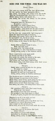 Song for the Times—The War Cry (1862)