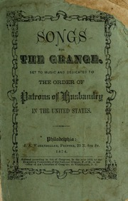 Glad echoes from the grange ohio state grange free - National grange of the patrons of husbandry ...