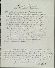Sonnet -- Character [manuscript]