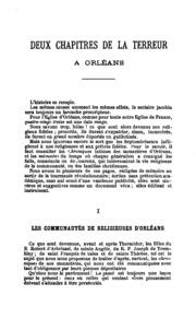 Sous la terreur: le clergé d-Orléans 1791-1802