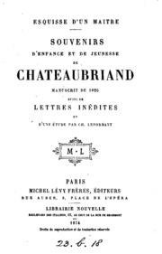 Souvenirs d-enfance et de jeunesse: manuscrit de 1826, suivi de lettres inédites