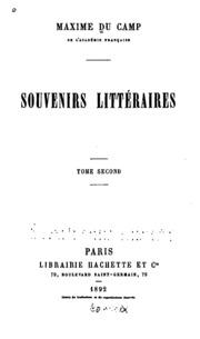 Vol 1: ... Souvenirs littéraires ...