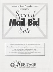 Special Mail Bid Sale: Fall 1996