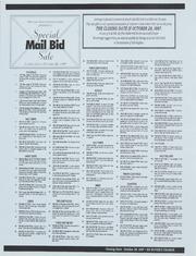 Special Mail Bid Sale: Fall 1997