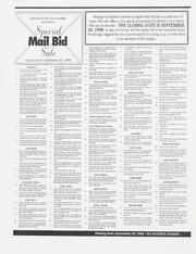 Special Mail Bid Sale: Fall 1998