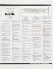 Special Mail Bid Sale: Spring 1998