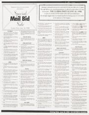 Special Mail Bid Sale: Summer 1998