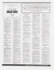 Special Mail Bid Sale: Winter 1999
