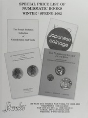 Special Price List of Numismatic Books Winter/Spring 2002