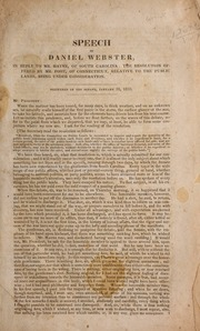 Speech of Daniel Webster, i...