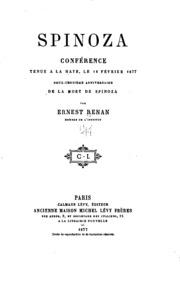 Spinoza: conférence tenue à La Haye le 12 février 1877, deux-centième ...