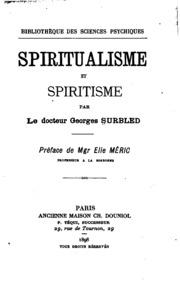 Spiritualisme et spiritisme