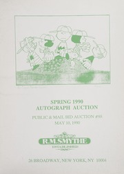 Spring 1990 Autograph Auction