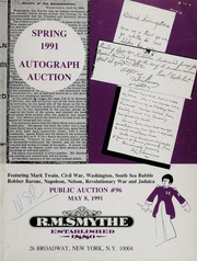 Spring 1991 Autograph Auction