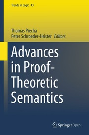 Advances in Proof-Theoretic Semantics electronic resource