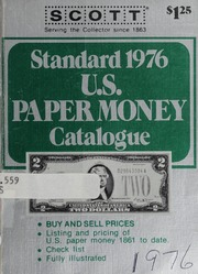 Standard 1976 U.S. Paper Money Catalogue