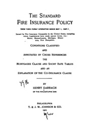 Distribution by States of Fire Insurance in the United ...