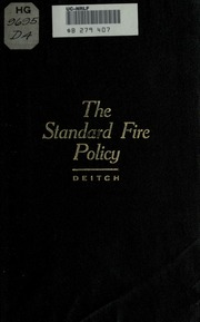 The principles and finance of fire insurance : Kitchin ...