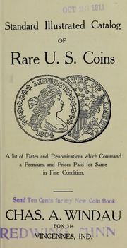The Standard Illustrated Coin Book [Prices Paid For List]