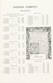 The Standard Paper Money Catalogue, Part 1: Colonial and Continental Currency