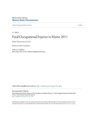 Fatal Occupational Injuries in Maine 2011
