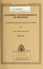 Statement of disbursements of the House, Apr-Jun 2005, pt. 1