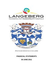 WC026 Langeberg AFS 2010-11 Unaudited